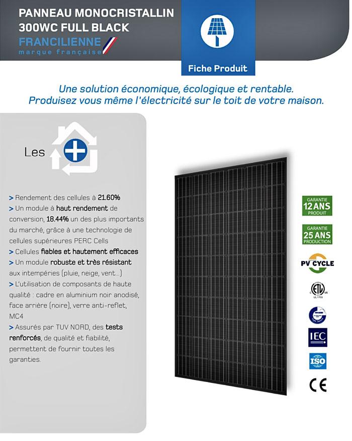 panneaux photovoltaïques monocristallin full black Arsilec Rhone Alpes Bourgogne Franche-Comté Lyon 69